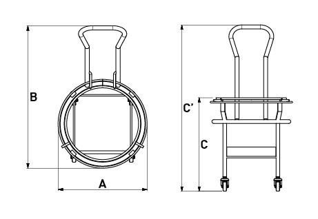 Carro para balde – 40-60 litros