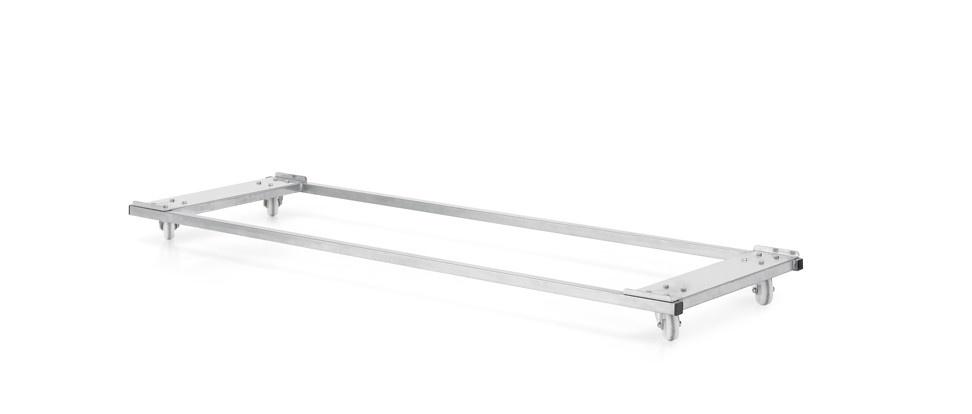 Carro baixo, tabuleiros de persiana, lar 1350x450mm, aço inoxidável – CTP134i